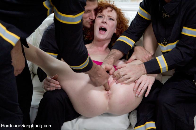 Rough Anal Bondage Gangbang