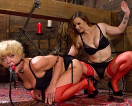 Bella Rossi in  Whippedass When the Cat's Away Slutty Slaves Play July 31, 2015  Gag, Dungeon